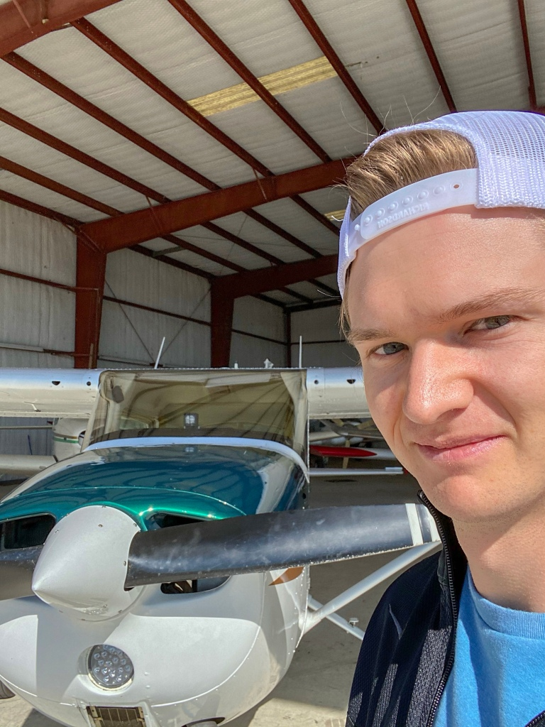 The Writer Pilot with a Cessna 172